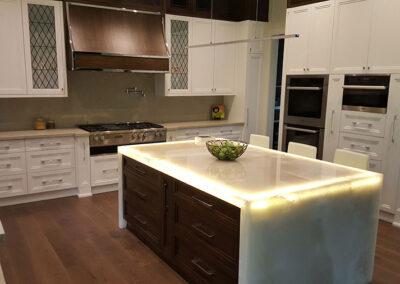 Kitchen countertop quartz light