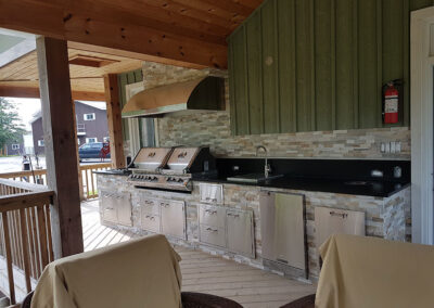 Outdoor kitchen marble, granite, quartz